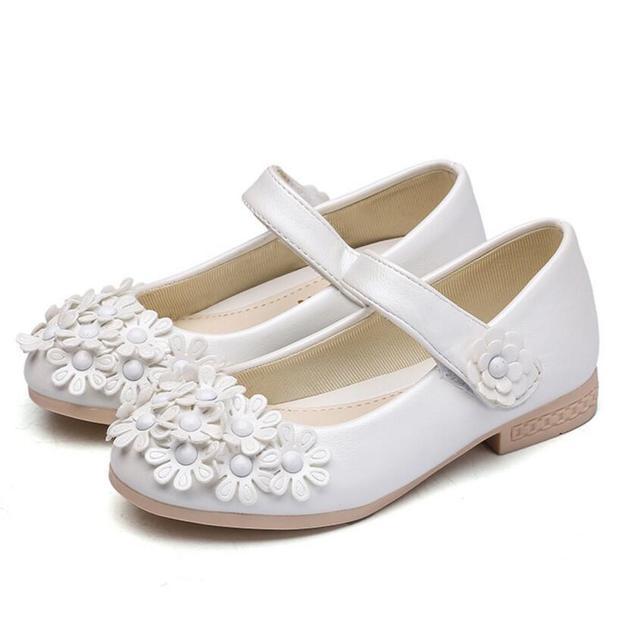 New Summer Baby Princess Girls Sandals Flowers Shoes PU Leather Shoe Kids  Party Shoes Size 26~36 Sandalia Infantil 50e5f462b64b