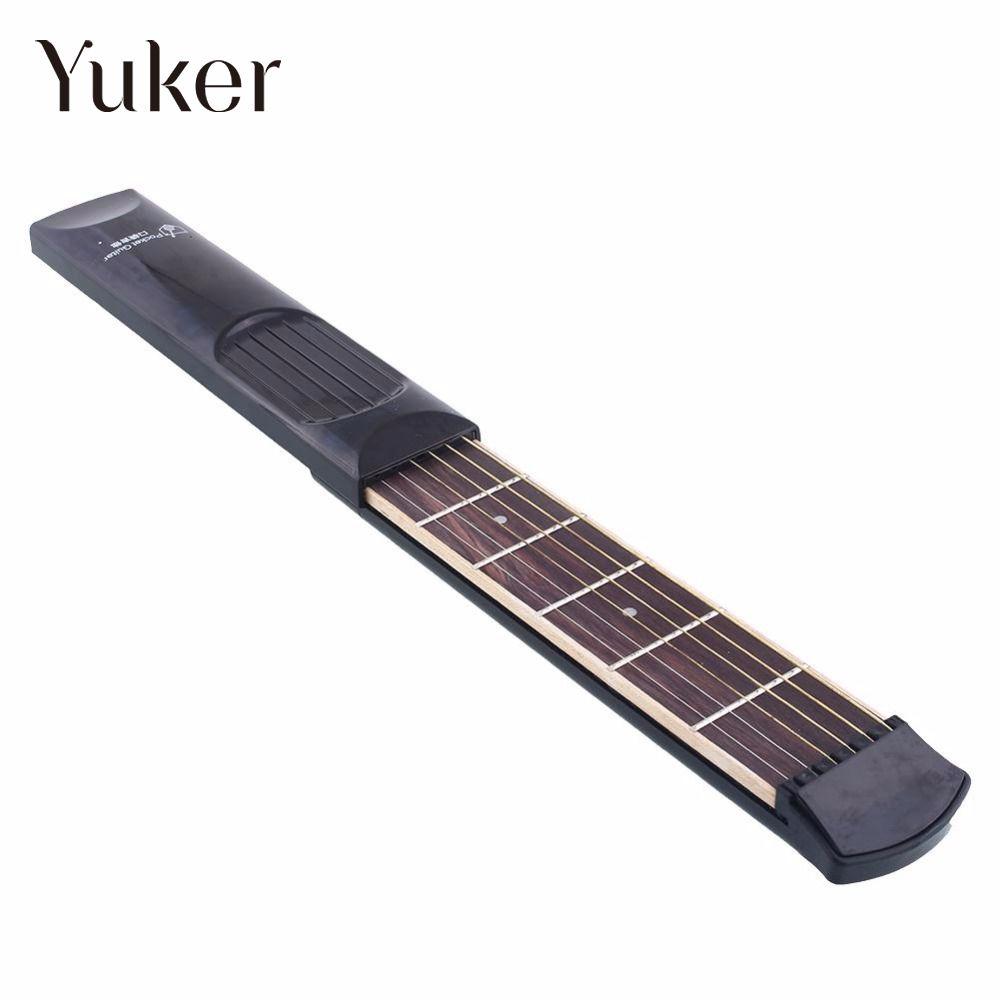 Yuker Portable Student 6 Fret String Model Guitar Practice Training Tool Gadget pratical musical instrument portable pockets acoustic guitar practice tool gadget 6 string 4 fret model for beginners hot sale