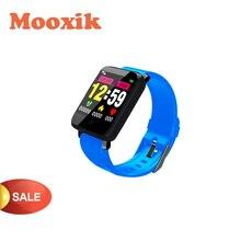 블루투스 스마트 시계 피트니스 밴드 스포츠 팔찌 혈압 보수계 f1 xiaomi 안드로이드 ios 무료 배송