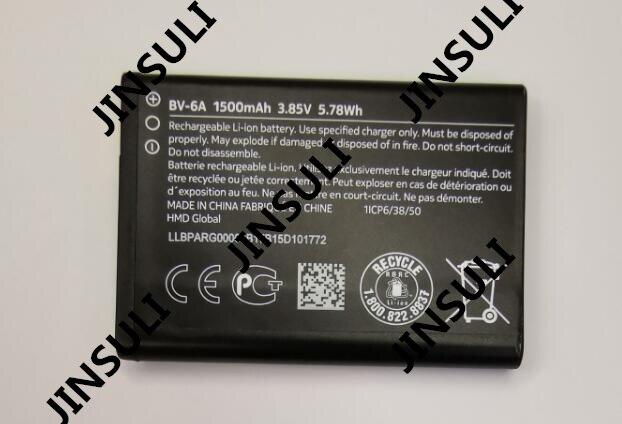 BV-6A 100% original for Nokia Banana 2060 3060 5250 C5-03 8110 4G 1500mah phone battery