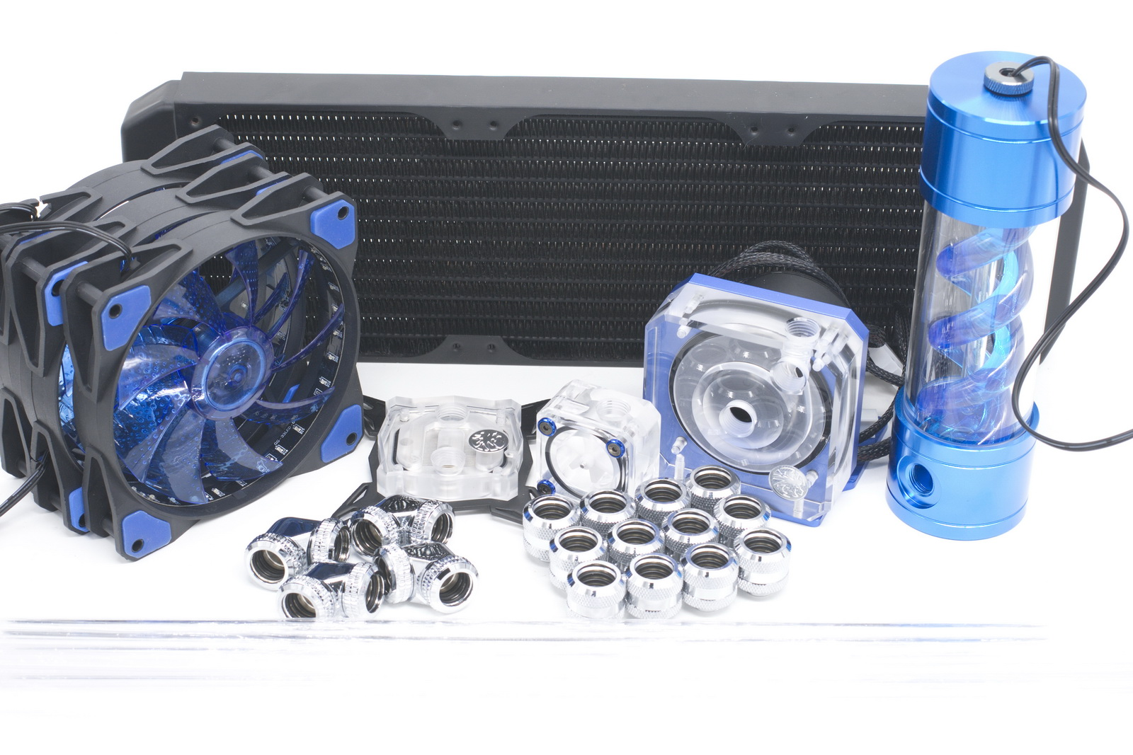 Bykski Water Cooling Kit for CPU Rigid Tube Intel AMD 360mm Copper Radiator bykski multicol water cooling block cpu radiator use for amd ryzen am3 am4 acrylic cooler block 0 5mm waterway matel bracket