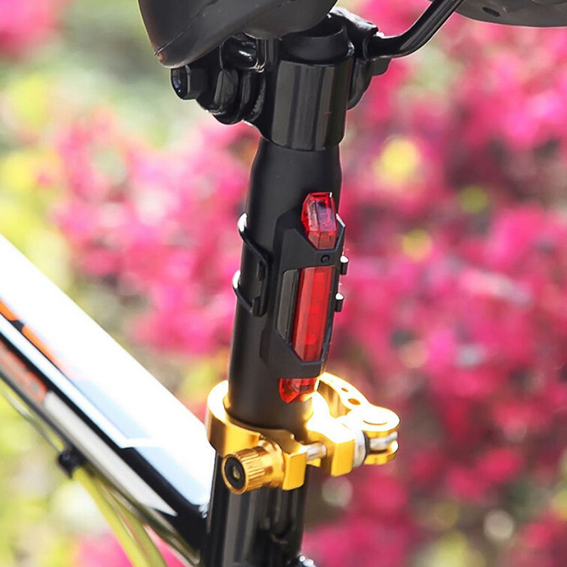 5 LED Rechargeable USB Bike TailLight Bicycle Safety Cycling Warning Rear Lamp**