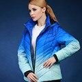 Весна осень и зима короткая конструкция куртки ватные женский градиент толстая верхняя одежда пальто Европа и Россия плюс размер 46-56 V130
