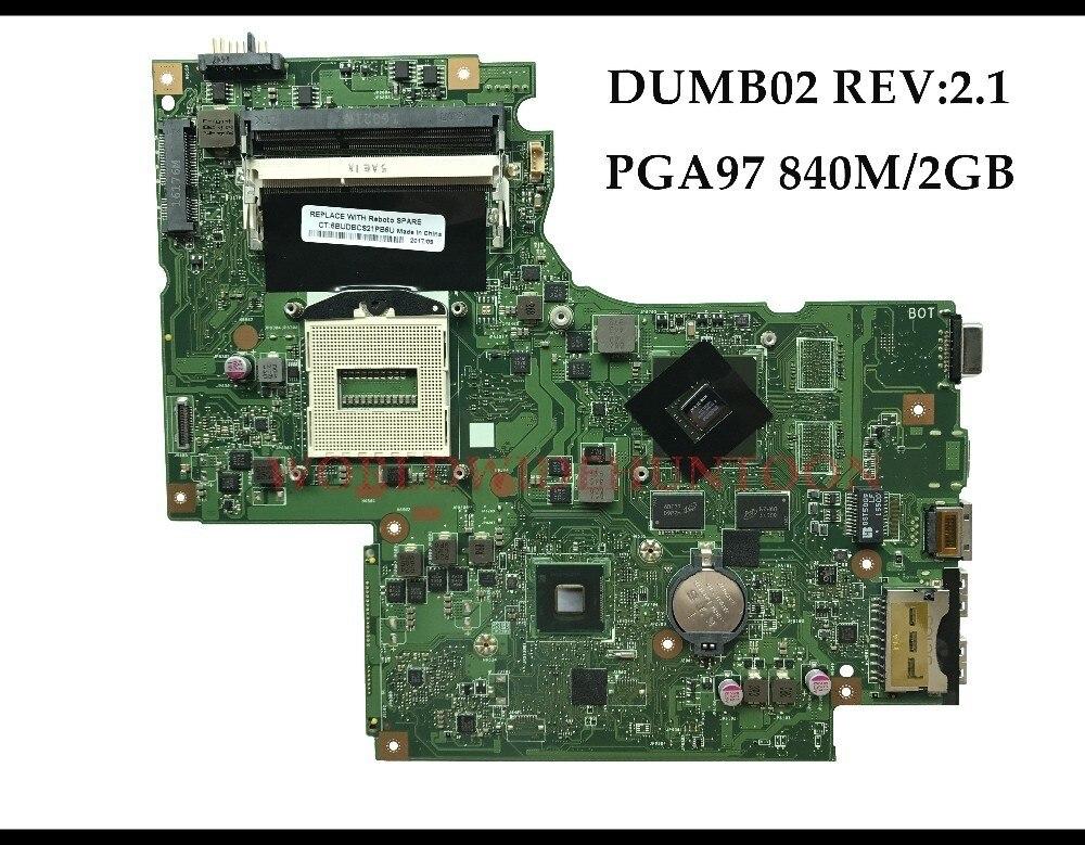 High Quality Laptop Motherboard For Lenovo Z710 DUMBO2 REV2 1 MAIN BOARD PGA947 SR17E HM86 N15S