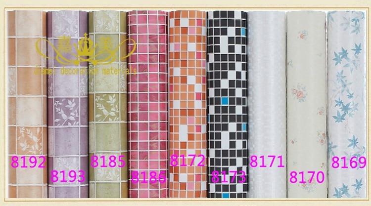 Grosso pvc auto adesivo papel de parede da cozinha de for Mosaico adesivo 3d