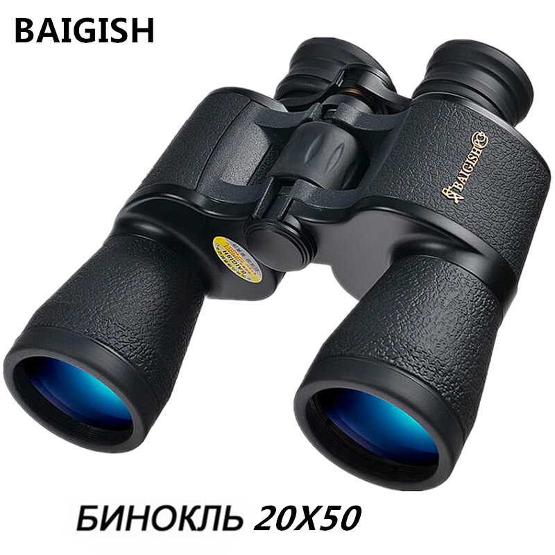 Baigish Russian Binoculars 20x50 plus High times Military Binocular Telescope Lll Night Vision For Hunting High quality eyepiece powerful professional binoculars baigish 20x50 military telescope lll night vision telescopio hd high power zoom for hunting