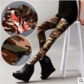 lady's camouflage Leggings Fashion Slim Points Pants High waist Women's Leggings large size