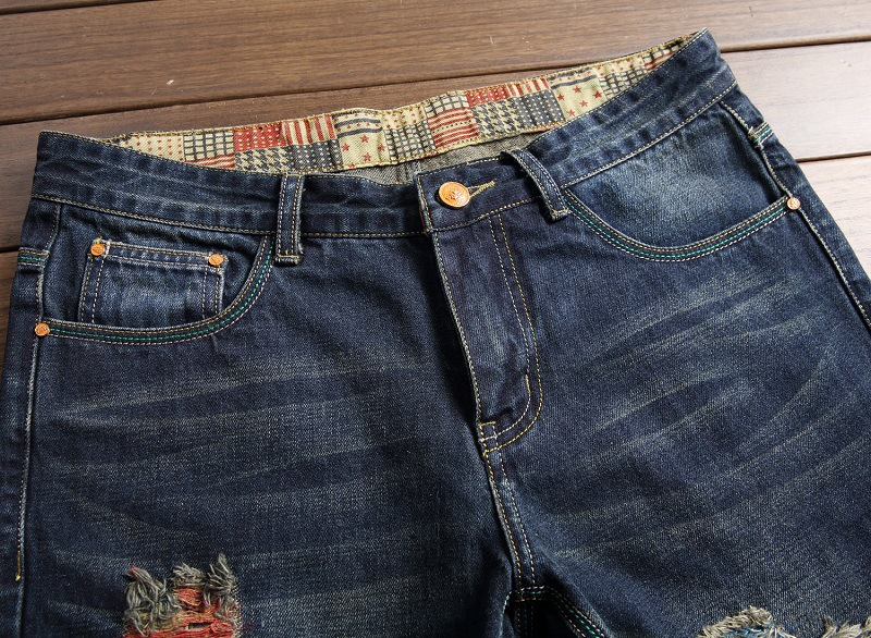 7e008018d8 Caliente Sexy mujeres destruido Denim Jeans agujero pantalones de cintura  alta pantalones vaqueros Slim lápiz Pantalones