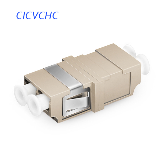 50pcs LC-UPC-OM1/OM2-Duplex-with Short Flange-Grey /Optic Fiber Adapter