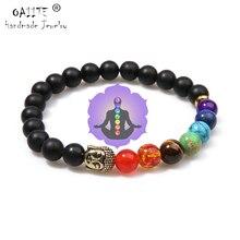 OAIITE 7 Chakra or, bouddha perd du poids Bracelets pour femme, bijoux en pierres naturelles, Bracelet Chakra, Yoga, thérapie de prière