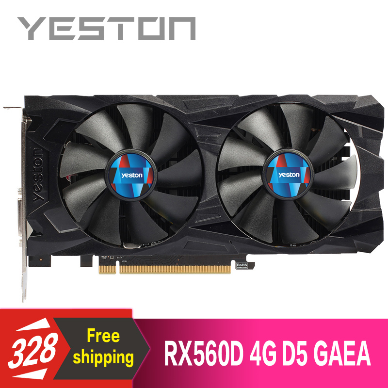 US $97 58 47% OFF|Yeston Radeon RX560D 4GB GDDR5 PCI Express 3 0 DirectX12  video gaming graphics card external graphics card for desktop-in Graphics