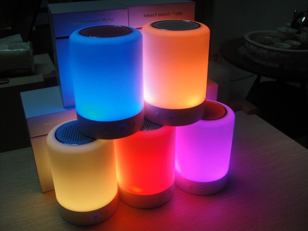 ФОТО 2016 latest fashion products smart music light Romantic lighting bluetooth speaker Multi color luminous body