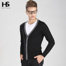 2016 Spring New Cardigan Men Sweater Men Brand Clothing Mens Sweaters Solid Color V-Neck Knitted Wool Cardigans Casual Coat 6901