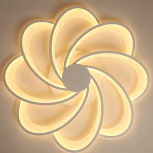 Image 5 - פרחי Creative led תקרת אורות סלון אורות מיטת חדר בית תאורת led מנורת lampara techo תקרת מנורת גופי