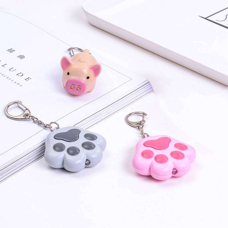 Small Dog Cat Paw Key Chain Key Ring Stylish Fashion Trinket Charm Accessory