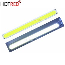 1-10PCS 14015 140*15mm LED COB Strip Light Source 12V DC 5W 500LM Cold White LED Diode FLIP Chip for DIY daytime Car light lamp(China)