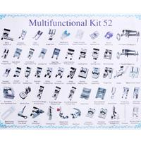 52pcs/set Mini Domestic Sewing Machine Braiding Blind Stitch Darning Presser Foot Feet Kit Sewing Set For Brother Singer Janome