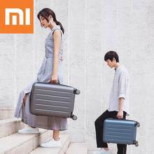 XIAOMI 90FUN 1A 20/26inch PC Suitcase Carry on Spinner Wheels Rolling Luggage TSA lock Business Travel Vacation for Women men xiaomi 90fun business travel dual function rolling luggage with lock spinner pc suitcase trolley carry on travel bag 20 24 28