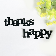 Thanks Happy Letters Metal Cutting Dies for Scrapbooking DIY Album Embossing Folder Paper Card Maker Template Decor Stencils Die