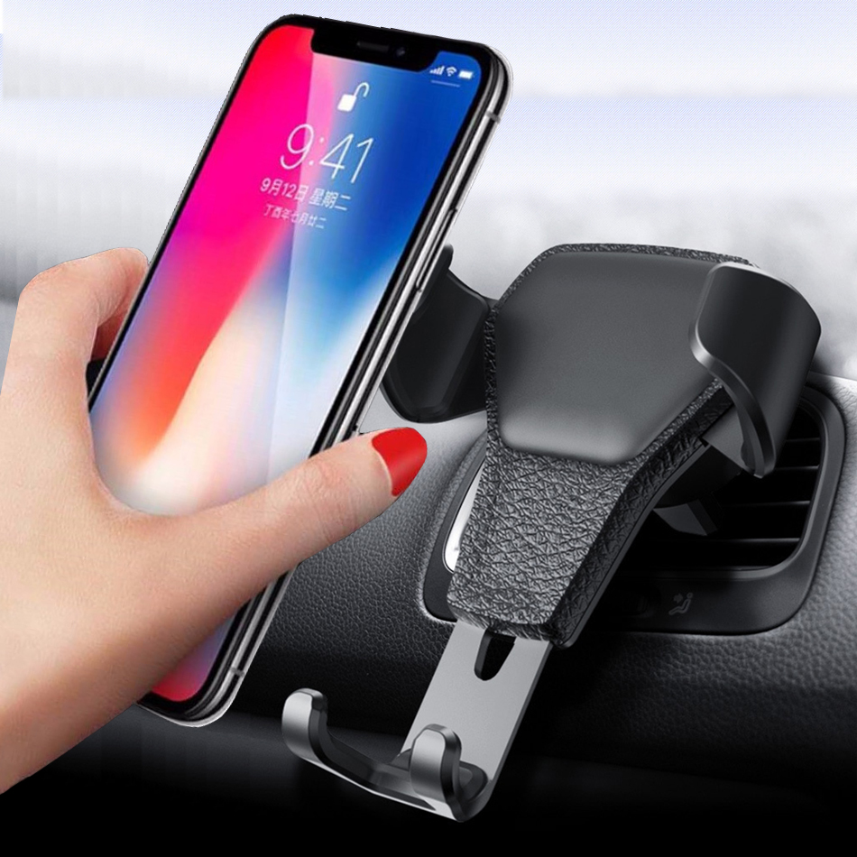 Universal Car phone holder for mobile in car <font><b>oneplus</b></font> 7 6 <font><b>5</b></font> Sony MOTO Air outlet Cell support <font><b>smartphone</b></font> voiture suport telephone image