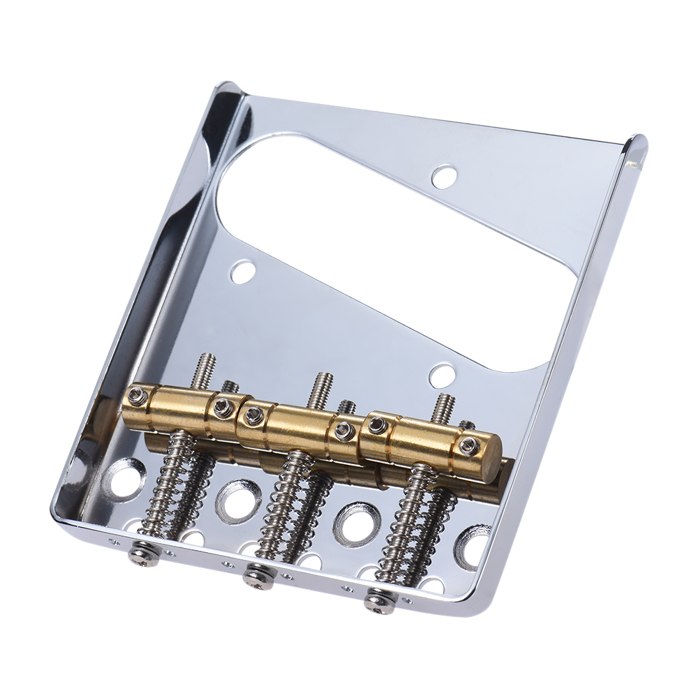 3 copper saddle ashtray bridge tailpiece chrome plated for telecaster tele electric guitar. Black Bedroom Furniture Sets. Home Design Ideas