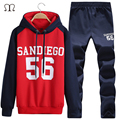 mens sportsuit 2016 fashion sportsuit men casual letter design tracksuit men cotton mens hoodies and sweatshirts + pants polos