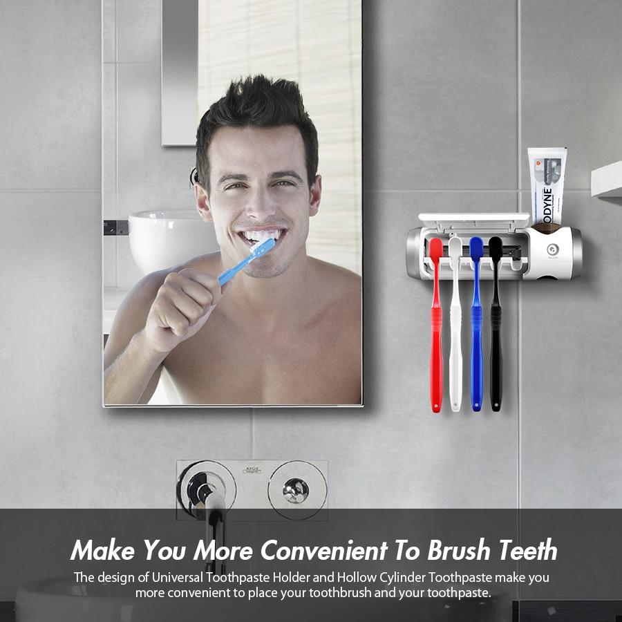 Digoo DG-UB01 UV Light Toothbrush Sterilizer Box Ultraviolet Antibacterial Toothbrush Cleaner USB Rechargeable Toothbrush Holder