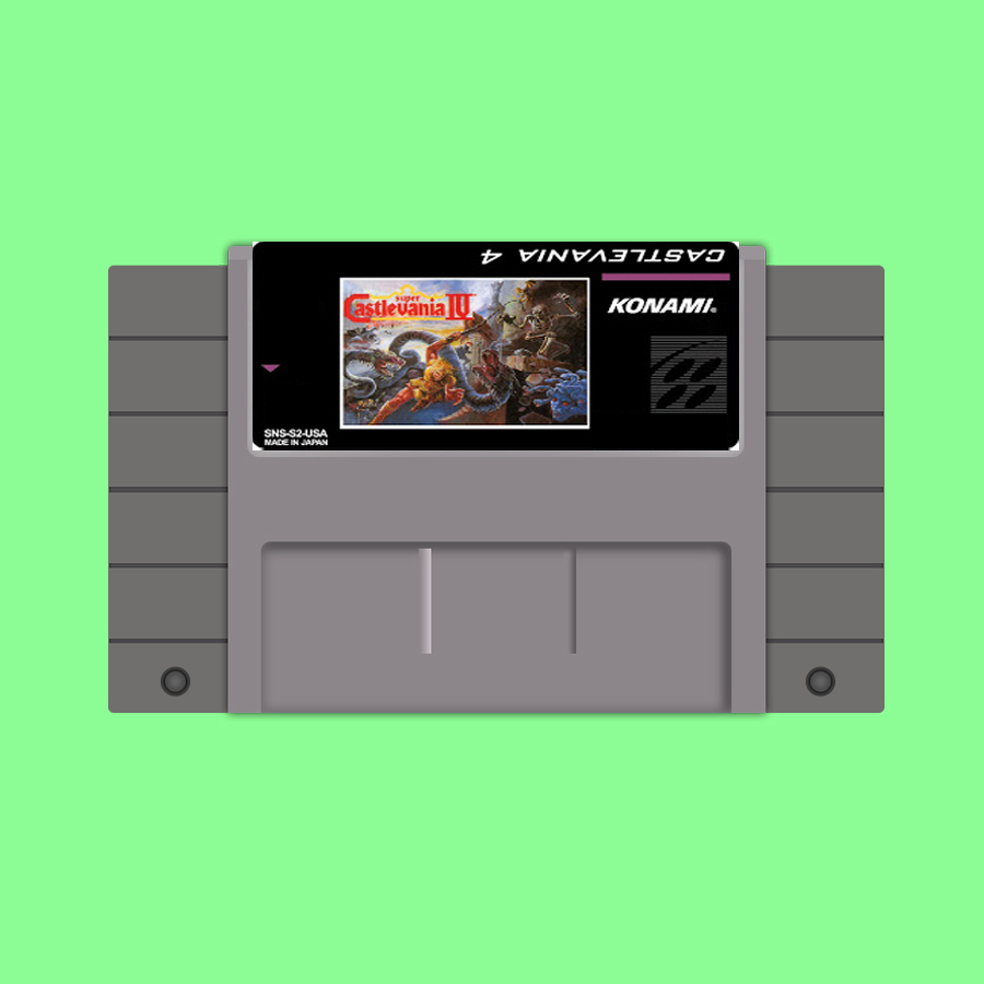 New arrival 16bit super game card Super Castlevania IV image