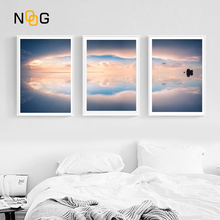 NOOG Uyuni Salt Flat Landscape Wall art Poster Nordic Canvas Painting Posters and Prints Pictures For Living Room Decor