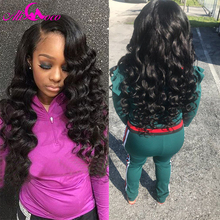 Ali Coco Hair Malezyjski Loose Wave Wiązki włosów Natural Black Color 100% Human Hair Weave Non Remy Hair Można Barwić