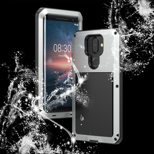 Image 2 - For Nokia 8 Sirocco Shockproof Case Armor Waterproof Metal Aluminum Phone Cases For Nokia 8 Sirocco Case Cover Screen Glass Film