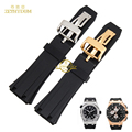 silicone rubber bracelet Watchband Sports watch strap Black 26mm Watch accessories silicone wristwatches band use for AP