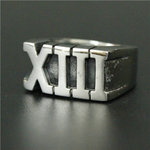 Newest Roman Numeral Xiii Lucky 13 Roman Ring 316l