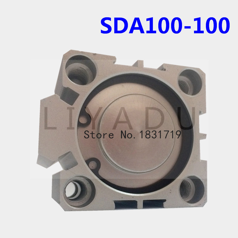 SDA100-100 sottile Serie di cilindri 100mm Bore 100mm Stroke SDA100 * 100 In lega di Alluminio cilindro SDA100X100SDA100-100 sottile Serie di cilindri 100mm Bore 100mm Stroke SDA100 * 100 In lega di Alluminio cilindro SDA100X100
