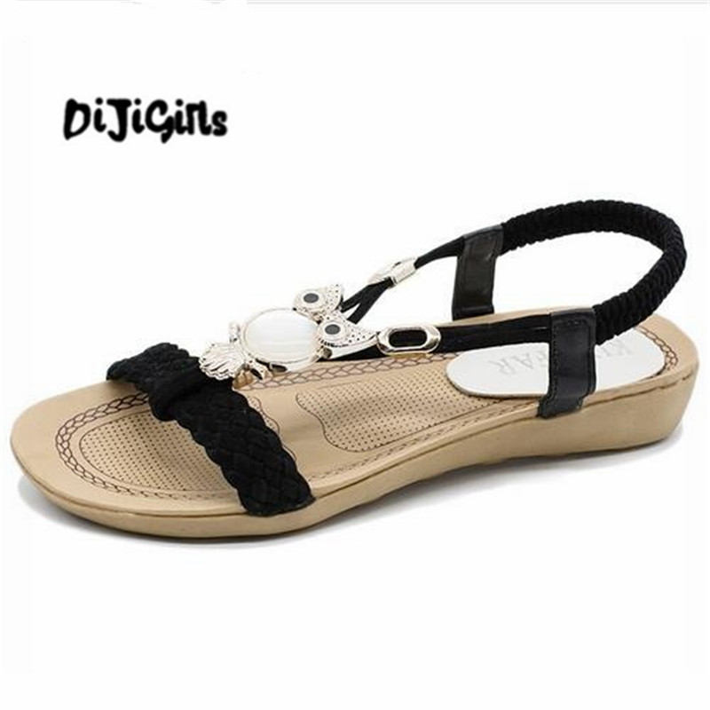 2018 Fashion Women Sandals Summer Gladiator Shoes Ladies Bohemia Shoes Woman Comfort Beach Shoes Flat Sandals Red women sandals 2017 summer shoes woman wedges fashion gladiator platform female slides ladies casual shoes flat comfortable