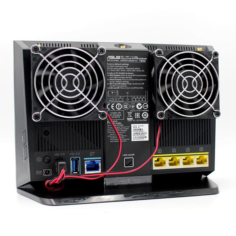 70mm DC 5V Cooling Fan Heat Radiator USB Power Ultra Silent Dissipate Temperature Control For RT-AC68U EX6200 AC15 AC68U Router цена