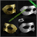 50pc/lot , mix colors ,  Antique Greek Roman Warrior Men Venetian Mardi Gras Party Masquerade Mask , half face men mask