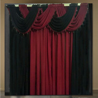 curtains for living room curtain sheer modern kitchen cortinas luxury tulle drapes panels waterfall valance 75 color 4 color
