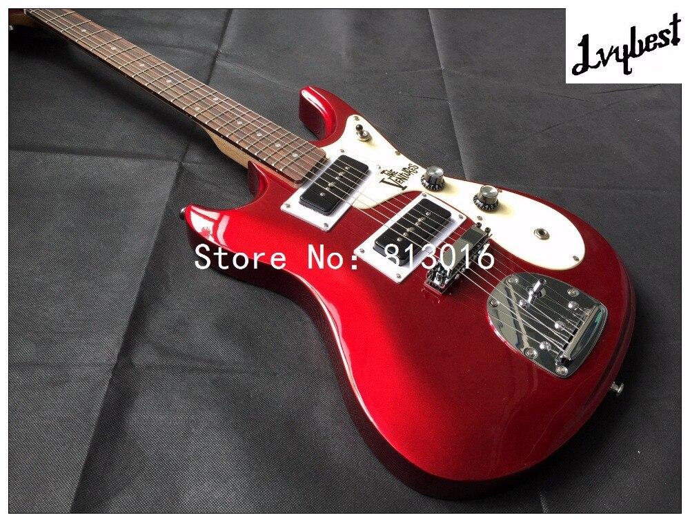 Beste E Gitarre Lvybest Rot Metallic Farbe. Creme Farbe Pickguard, Seife  Form Pickups