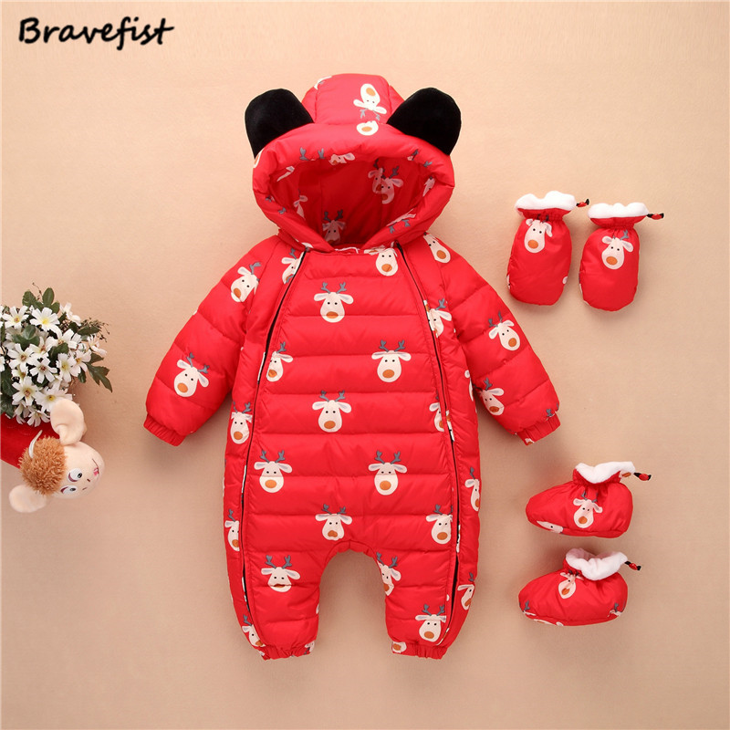 Baby Clothing Set For Newborn Baby Boys Down Hooded Rompers Children Cotton Costumes Kids Winter Infant Girls Jumpsuit Suits summer baby boys clothing hawaiian style shorts red rompers child jumpsuit infant clothes kids coco baby costumes pineapple