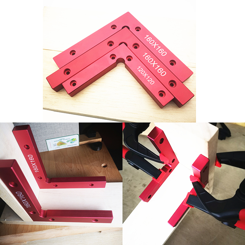 90 Degree Positioning Squares Right Angle Clamps Woodworking Carpenter Tool 160x160mm L Block Square Aluminium Alloy Wood Tools