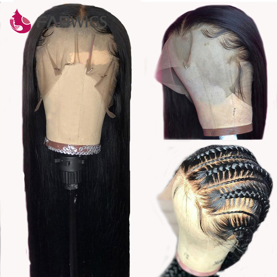 Peruvian Glueless Full Lace Wigs Pre Plucked Full Lace Human Hair Wigs with Baby Hair Straight Remy Human Hair Wigs For Women