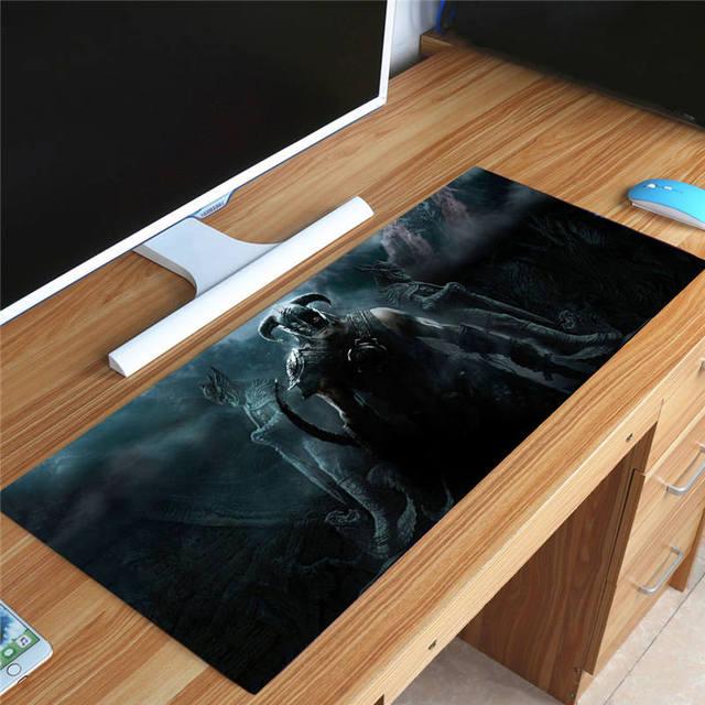 Большой игровой коврик для мыши skyrim 70x30 см ,коврик для ПК -