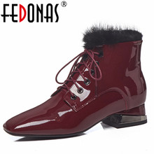 FEDONAS Sexy Women High Heels Ankle Boots Genuine Leather Corss tied Square Toe Party Wedding Shoes Woman Female Basic Boots