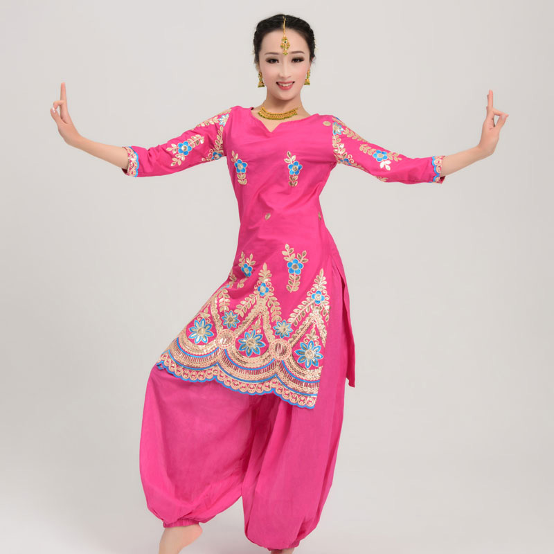 Indian Dance Performance Clothing Bollywood Sari Tops Oriental Dance Costumes For Women Indian Folk Dance Tops Dress DQL922