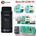 Envío Libre Más Nuevo V5 V5 OP COM con PIC18F458 CAN BUS OBD2 OP-COM OPCOM herramienta de diagnóstico en stock