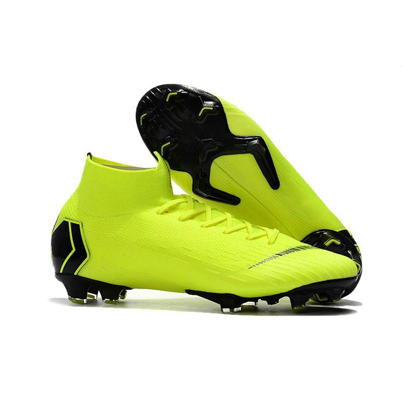 de10334770a Original Professional Men Football Boots Alpha Menace Shark Sport FG Socks  Phantom Spikes Cleats Superfly Authentic