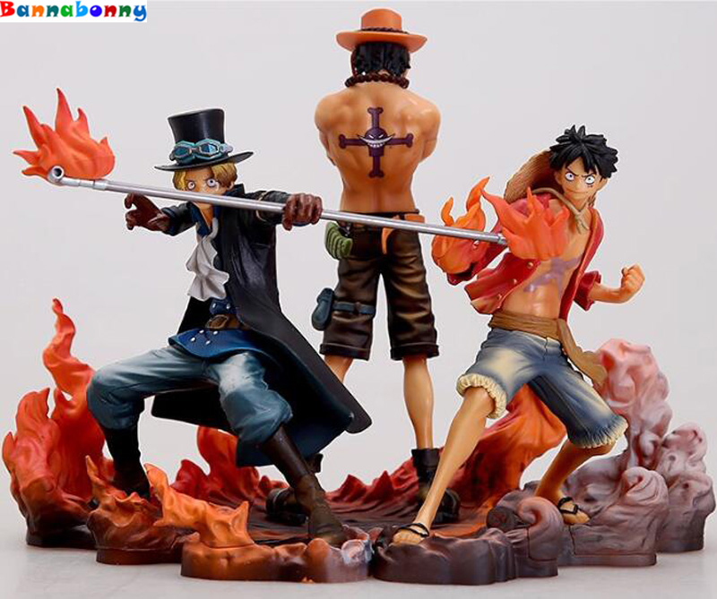 2018 New 3PCS/Lot 14-17cm One piece Monkey D Luffy ace Sabo collectors action figure toys Christmas toy new hot 12cm one piece boa hancock monkey d luffy modelling action figure toys collection doll christmas gift with box
