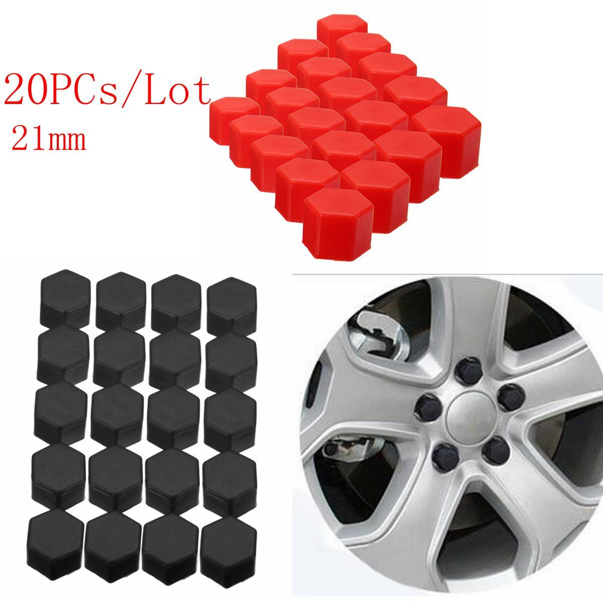 20pcs Auto Car Wheel Nut Bolt Tire Screw Cover Cap 17mm ABS Plastic Universal