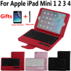 Remove Detach Wireless Bluetooth Keyboard Tablet Case Cover For Apple IPad Mini 1 2 3 4